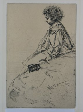 James Abbott McNeill Whistler (American, 1834-1903). Bibi Lalouette, 1859. Etching, Sheet: 12 1/4 x 8 in. (31.1 x 20.3 cm). Brooklyn Museum, By exchange, 48.209.5