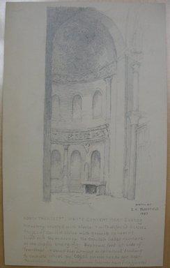 Edwin Howland Blashfield (American, 1848-1936). Church at the White Convent, Near Sohag, 1887. Graphite on paper, Sheet: 10 3/8 x 6 1/4 in. (26.4 x 15.9 cm). Brooklyn Museum, Gift of John H. Field, 48.217.6