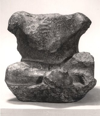 Fragmentary Statue of a Figure with Dwarfism, 1st century B.C. - 1st century C.E. Granite, 16 5/16 x 16 3/4 x 18 1/2 in. (41.5 x 42.5 x 47 cm). Brooklyn Museum, Charles Edwin Wilbour Fund, 48.9. Creative Commons-BY