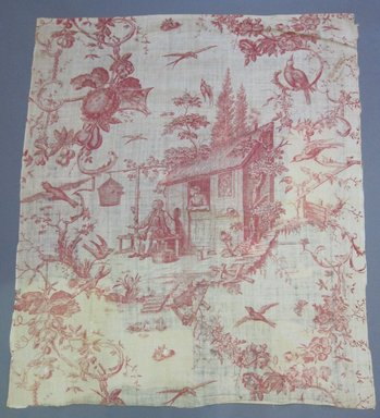 Toile Fragment, late 18th century. Printed linen, 35 1/2 x 42 in. (90.2 x 106.7 cm). Brooklyn Museum, Caroline H. Polhemus Fund, 49.107.1