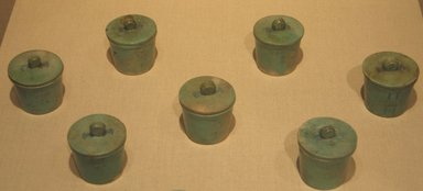 Brooklyn Museum: One of a Set of Seven Ointment Jars Each with Separate Cover