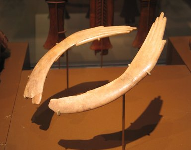 Pair of Clappers in Form of Human Hands, ca. 1539-1190 B.C.E. Ivory, 49.58.1: 1 5/16 x 7 3/8 in. (3.3 x 18.8 cm). Brooklyn Museum, Charles Edwin Wilbour Fund, 49.58.1-.2. Creative Commons-BY