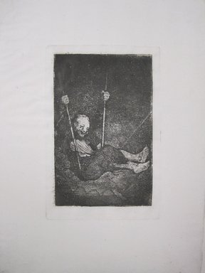 Francisco de Goya y Lucientes (Spanish, 1746-1828). Le Vieux se Balancant, 18th century. Etching on Spanish laid paper, sheet: 12 1/2 x 8 13/16 in. (31.8 x 22.4 cm). Brooklyn Museum, Gift of Xavier Gonzalez, 50.53