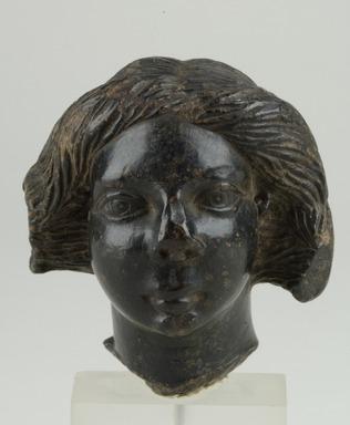 Female Head, 250 C.E. - 300 C.E. Steatite, 2 15/16 x max. diam. 2 11/16 in. (7.4 x 6.8 cm). Brooklyn Museum, Gift of Albert Gallatin, 50.60. Creative Commons-BY