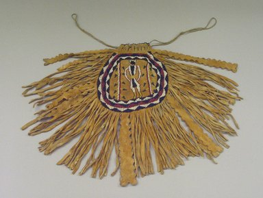 Plains (Native American). Fringed Pouch with Beaded Figure, 1868-1901. Hide, Beads Brooklyn Museum, Henry L. Batterman Fund and the Frank Sherman Benson Fund, 50.67.17. Creative Commons-BY