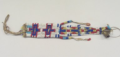 Probably Sioux (Native American). Knife Sheath, 19th century. Hide, beads, brass, 11 3/4 in. (29.8 cm). Brooklyn Museum, Henry L. Batterman Fund and the Frank Sherman Benson Fund, 50.67.39. Creative Commons-BY