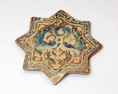 Star Shaped Tile, 13th century. Overglaze painting, 9/16 x 8 1/4 in. (1.5 x 21 cm). Brooklyn Museum, Anonymous gift, 51.105.1. Creative Commons-BY