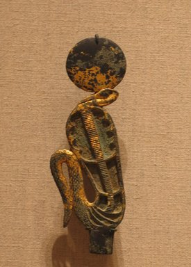 Brooklyn Museum: Uraeus with Solar Disk