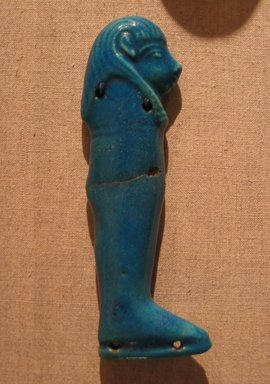 One of the Four Sons of Horus, ca. 664-after 30 B.C.E. Faience, 4 5/16 in.  (11.0 cm). Brooklyn Museum, Charles Edwin Wilbour Fund, 51.223.1. Creative Commons-BY