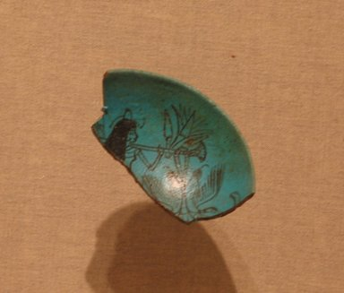 Fragment of Bowl, ca. 1336-1295 B.C.E. Faience, 3 1/4 x 1 7/8 in. (8.3 x 4.8 cm). Brooklyn Museum, Charles Edwin Wilbour Fund, 51.227. Creative Commons-BY