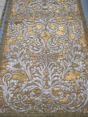 Textile, 16th-19th century. Metallic thread, a: 22 1/2 x 51 in. (57.2 x 129.5 cm). Brooklyn Museum, Gift of Susan D. Bliss, 51.248.1. Creative Commons-BY