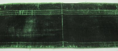 Textile, 19th century. Cut silk velvet , 14 x 56 1/2 in. (35.6 x 143.5 cm). Brooklyn Museum, Gift of Susan D. Bliss, 51.248.21. Creative Commons-BY