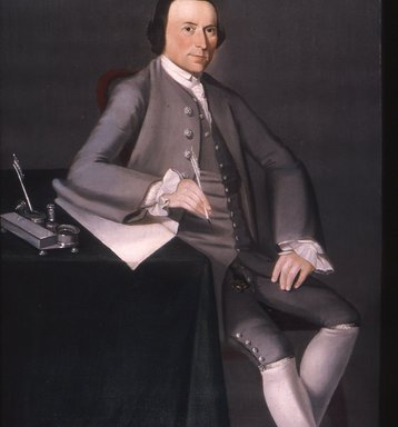 William Johnston (American, 1732-1772). Thomas Mumford VI, 1763. Oil on canvas, 50 1/16 x 39 3/16 in. (127.2 x 99.5 cm). Brooklyn Museum, Dick S. Ramsay Fund, Carll H. de Silver Fund, and Museum Collection Fund, 52.41