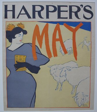 Edward Penfield (American, 1866-1925). Harper's Poster - May 1895, 1895. Lithograph on wove paper, Sheet: 16 3/4 x 13 3/8 in. (42.5 x 34 cm). Brooklyn Museum, Dick S. Ramsay Fund, 53.167.11