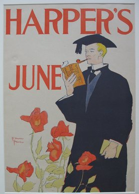 Edward Penfield (American, 1866-1925). Harper's Poster - June 1895, 1895. Lithograph on wove paper, 18 1/4 x 12 7/8 in. (46.4 x 32.7 cm). Brooklyn Museum, Dick S. Ramsay Fund, 53.167.2