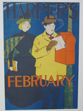 Edward Penfield (American, 1866-1925). Harper's Poster, ca. 1894-1898. Lithograph on wove paper, sheet: 18 3/8 x 12 7/8 in. (46.7 x 32.7 cm). Brooklyn Museum, Dick S. Ramsay Fund, 53.167.29