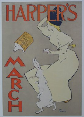 Edward Penfield (American, 1866-1925). Harper's Poster - March 1895, 1895. Lithograph on wove paper, Sheet: 19 1/4 x 13 7/8 in. (48.9 x 35.2 cm). Brooklyn Museum, Dick S. Ramsay Fund, 53.167.3