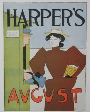Edward Penfield (American, 1866-1925). Harper's Poster - August 1894, 1894. Lithograph on wove paper, Sheet: 16 3/4 x 12 3/4 in. (42.5 x 32.4 cm). Brooklyn Museum, Dick S. Ramsay Fund, 53.167.9