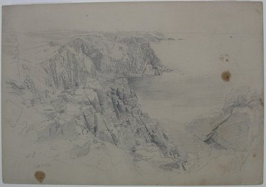 William Trost Richards (American, 1833-1905). Near Land's End, Cornwall, September 1, 1878. Graphite on paper, Sheet: 10 x 14 3/8 in. (25.4 x 36.5 cm). Brooklyn Museum, Bequest of Mrs. William T. Brewster, 53.242.3