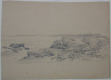 William Trost Richards (American, 1833-1905). Study of Rocks, Near Newport, n.d. Graphite on paper, Sheet (irregular): 10 3/8 x 14 3/8 in. (26.4 x 36.5 cm). Brooklyn Museum, Bequest of Mrs. William T. Brewster, 53.242.5