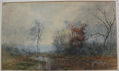 George Herbert McCord (American, 1849-1909). Landscape, n.d. Watercolor on paper mounted to board, Sheet: 12 3/4 x 20 7/8 in. (32.4 x 53 cm). Brooklyn Museum, Dick S. Ramsay Fund, 53.7