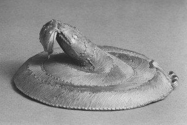 Ebrié. Snake Pendant, 19th century. Gold, diameter: 3 9/16 in. (9 cm). Brooklyn Museum, Frank L. Babbott Fund, 54.161. Creative Commons-BY