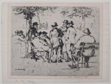 William Meyerowitz (American, 1898-1981). Old Men in the Park, n.d. Etching on paper, sheet: 9 1/8 x 12 1/8 in. (23.1 x 30.8 cm). Brooklyn Museum, Gift of Dr. and Mrs. Morris T. Koven, 54.181. © Estate of William Meyerowitz