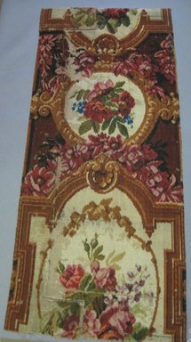 Two Fragments of Victoria Carpeting, ca. 1850. Wool, a: 26 3/8 x 53 in. (67 x 134.6 cm). Brooklyn Museum, Gift of Mrs. Paul Moore, 54.31.1a-b. Creative Commons-BY