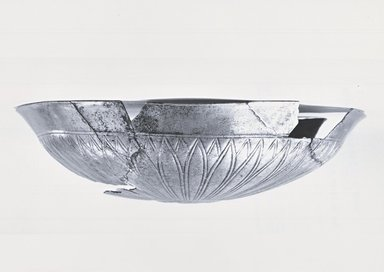 Shallow Bowl with Floral Decoration, ca. 410 B.C.E. Silver, 1 15/16 x Diam. 7 15/16 in. (5 x 20.2 cm). Brooklyn Museum, Charles Edwin Wilbour Fund, 54.50.33. Creative Commons-BY