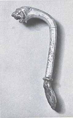 Vessel Handle in Form of Lion, ca. 410 B.C.E. Silver, Length: 4 15/16 in. (12.5 cm). Brooklyn Museum, Charles Edwin Wilbour Fund, 54.50.42. Creative Commons-BY