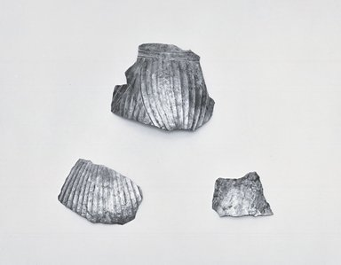 Three Fragments from Body of Decorated Jug, ca. 410 B.C.E. Silver, (Fragment a): 2 13/16 x 3 3/8 in. (7.1 x 8.5 cm). Brooklyn Museum, Charles Edwin Wilbour Fund, 54.50.43a-c. Creative Commons-BY