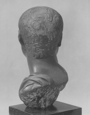 Ptolemaic. Bust of Roman Nobleman, ca. 30 B.C.E.– 50 C.E. Graywacke, 9 x 4 1/4 x 5 in. (22.9 x 10.8 x 12.7 cm). Brooklyn Museum, Charles Edwin Wilbour Fund, 54.51. Creative Commons-BY