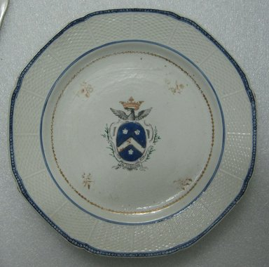Plate, ca. 1790. Porcelain, 9 1/4 in. (23.5 cm). Brooklyn Museum, The Helena Woolworth McCann Trade Procelain Collection, Gift of the Winfield Foundation, 55.10.41. Creative Commons-BY