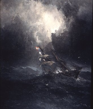 James Hamilton (American, 1819-1878). Foundering, 1863. Oil on canvas, 59 5/8 x 48 1/16 in. (151.5 x 122 cm). Brooklyn Museum, Dick S. Ramsay Fund, 55.139