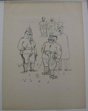 George Grosz (American, born Germany, 1893-1959). For German Right and German Morals (Für Deutsches Recht und Deutsche Sitte), 1919. Lithograph, Sheet: 25 1/16 x 18 5/8 in. (63.7 x 47.3 cm). Brooklyn Museum, Gift of Dr. F.H. Hirschland, 55.165.143