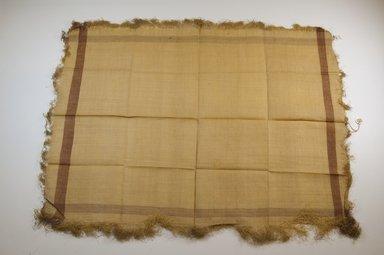 Possibly Kuba. Raffia Cloth. Raffia, 16 x 13 in. (40.8 x 33.2 cm). Brooklyn Museum, Gift of Mrs. M.D.C. Crawford, 55.227.13. Creative Commons-BY