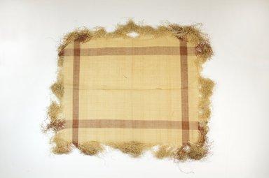 Raffia Cloth. Raffia, 16 1/4 x 13 3/4 in. (41.0 x 35.0 cm). Brooklyn Museum, Gift of Mrs. M.D.C. Crawford, 55.227.15. Creative Commons-BY