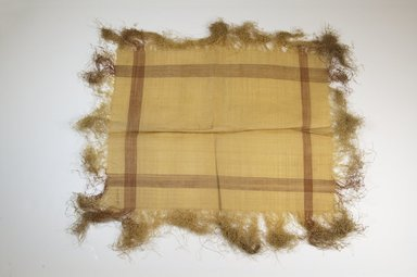 Raffia Cloth. Raffia, 16 x 13 in. (40.8 x 33.2 cm). Brooklyn Museum, Gift of Mrs. M.D.C. Crawford, 55.227.16. Creative Commons-BY