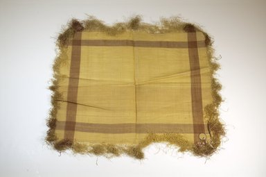 Raffia Cloth. Raffia, 16 x 13 in. (40.8 x 33.2 cm). Brooklyn Museum, Gift of Mrs. M.D.C. Crawford, 55.227.17. Creative Commons-BY