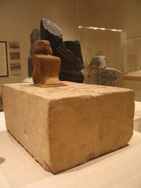 Statue of Ipepy, ca. 1870-1750 B.C.E. Quartzite, limestone, 12 x 9 x 13 7/16 in., 49 lb. (30.5 x 22.9 x 34.2 cm, 22.23kg). Brooklyn Museum, Charles Edwin Wilbour Fund, 57.140a-b. Creative Commons-BY