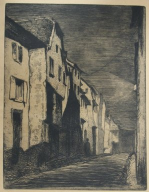 James Abbott McNeill Whistler (American, 1834-1903). Street at Saverne, 1858. Etching, Image: 8 1/8 x 6 1/4 in. (20.6 x 15.9 cm). Brooklyn Museum, Gift of Mrs. Charles Pratt, 57.188.61
