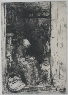 James Abbott McNeill Whistler (American, 1834-1903). La Vielle aux Loques, 1858. Etching on paper, Image: 8 1/8 x 5 13/16 in. (20.6 x 14.8 cm). Brooklyn Museum, Gift of Mrs. Charles Pratt, 57.188.62
