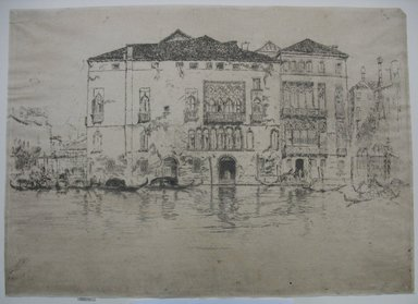 James Abbott McNeill Whistler (American, 1834-1903). The Palaces. Etching and drypoint on paper, Sheet (trimmed to plate): 10 1/16 x 14 in. (25.6 x 35.6 cm). Brooklyn Museum, Gift of Mrs. Charles Pratt, 57.188.67