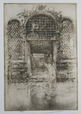 James Abbott McNeill Whistler (American, 1834-1903). The Doorway, 1880. Etching and drypoint on paper, Sheet (trimmed to plate): 11 9/16 x 7 15/16 in. (29.4 x 20.2 cm). Brooklyn Museum, Gift of Mrs. Charles Pratt, 57.188.70