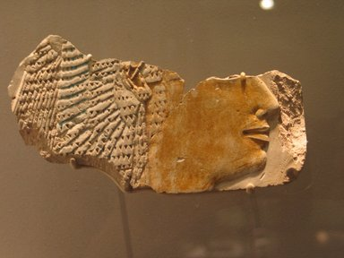 Relief Fragment Showing Head of Queen Ahmose, ca. 1478-1458 B.C.E. Limestone, painted, 4 3/4 x 8 7/16 in. (12.1 x 21.5 cm). Brooklyn Museum, Anonymous gift in memory of Arthur W. Clement, 57.76.2. Creative Commons-BY