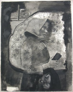 Gyorgy Kepes (American, 1906-2001). Standing Figure of Woman, Facing Right, 1937. Ink pen and wash on paper, sheet: 28 3/16 x 22 3/16 in. (71.6 x 56.4 cm). Brooklyn Museum, Gift of Mr. and Mrs. Theodore J. H. Gusten, 57.79.1. © Estate of Gyorgy Kepes