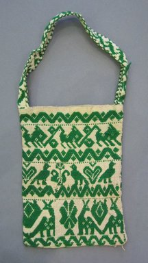 Mexican. Handbag, first half of 20th century. Cotton and wool, 8 x 19 in. (20.3 x 48.3 cm). Brooklyn Museum, Gift of Harry G. Friedman, 58.174.32