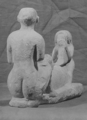 Erotic Musicians, 305-30 B.C.E. Limestone, painted, 5 13/16 x 8 1/4 in. (14.8 x 21 cm). Brooklyn Museum, Charles Edwin Wilbour Fund , 58.34. Creative Commons-BY