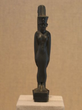Statuette of the Goddess Neith, ca. 664-332 B.C.E. Slate, Height: 4 5/16 in. (11 cm). Brooklyn Museum, Charles Edwin Wilbour Fund, 58.79.2. Creative Commons-BY