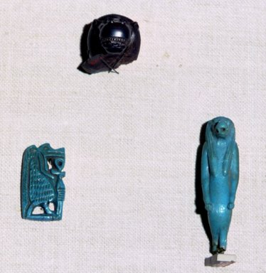 Amulet of Taweret, ca. 1539-1425 B.C.E. Faience, glazed, 1 5/16 in. (3.4 cm). Brooklyn Museum, Charles Edwin Wilbour Fund, 37.965E. Creative Commons-BY